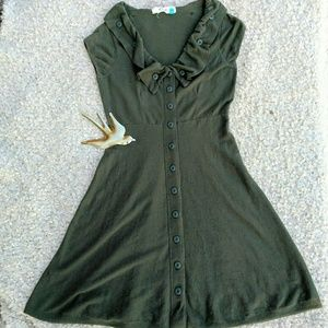 Anthropologie Sparrow M green knit sweater dress